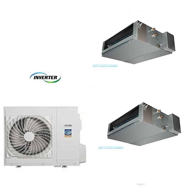 Climatizzatore dual 9 12 canalizzato dc inverter classe a for Climatizzatori classe energetica a