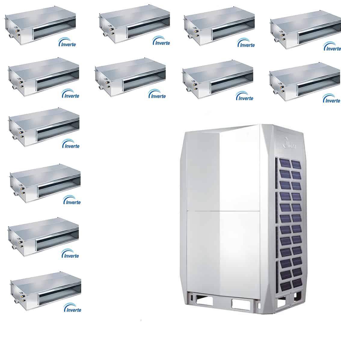 Climatizzatore multi canalizzato 12000 dc inverter con 12 for Climatizzatore canalizzato