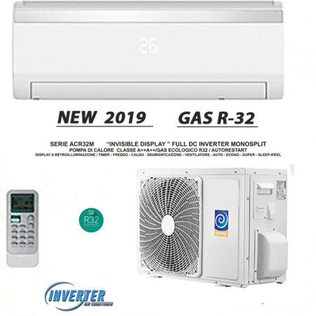 CLIMATIZZATORI MONO SPLIT SERIE ACR INVISIBLE DISPLAY FULL DC INVERTER A++/ A++ GAS R-32 LINEA 2019 SEER 6.5 SCOP 4.65