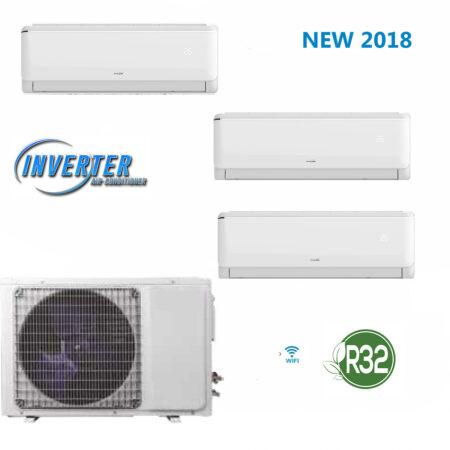 CLIMATIZZATORI TRIALFULL DC INVERTER GAS ECOLOGICO R-32 CLASSE A++A+ NUOVA GAMMA 2018 PREDISPOSIZIONE WI-FI NEW 2018