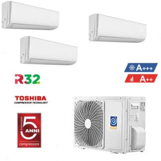 CLIMATIZZATORI TRIAL SPLIT GAS R-32 A++A++ FULL DC INVERTER WI-FI INCLUSO GARANZIA ITALIA