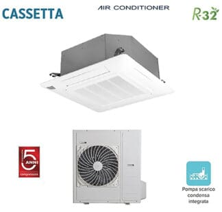 CLIMATIZZATORI CASSETTA 4 VIE FULL DC INVERTER GAMMA 2021 A++A++ GAS R-32 WI-FI READY