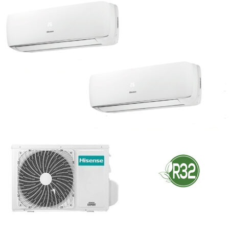 CLIMATIZZATORI HISENSE DUAL SPLIT SERIE MINI APPLE PIE DC INVERTER A++A+ GAS R-32
