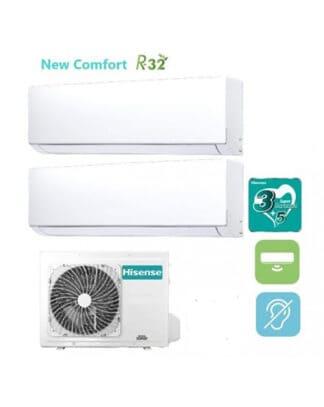 CLIMATIZZATORI HISENSE DUAL SPLIT NEW COMFORT GAS R-32 DC INVERTER A++A+