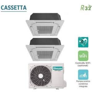 CLIMATIZZATORI HISENSE DUAL CASSETTA R-32 DC INVERTER A++A+ WI-FI READY