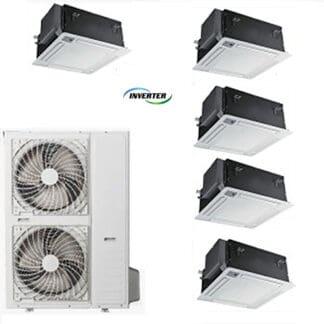 CLIMATIZZATORI MULTI SPLIT PENTA A CASSETTA DC INVERTER CLASSE A++A++ GAMMA 2020 wi-fi ready