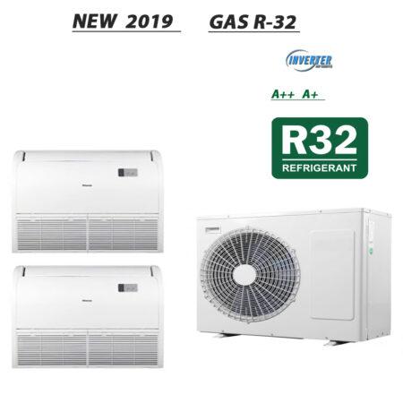 CLIMATIZZATORI DUAL PAVIMENTO SOFFITTO DC INVERTER CLASSE A++A+ GAMMA 2020 GAS R-32 WI-FI READY
