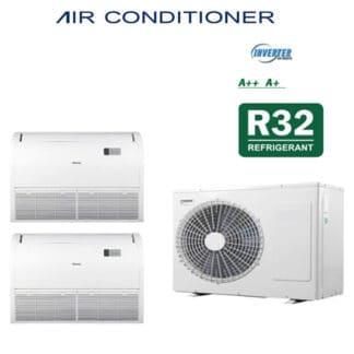 CLIMATIZZATORI DUAL PAVIMENTO SOFFITTO DC INVERTER CLASSE A++A+ GAMMA 2021 GAS R-32 WI-FI READY