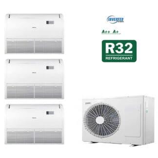 CLIMATIZZATORI TRIAL PAVIMENTO SOFFITTO DC INVERTER CLASSE A++A+ GAMMA 2021 GAS R-32 WI FI READY