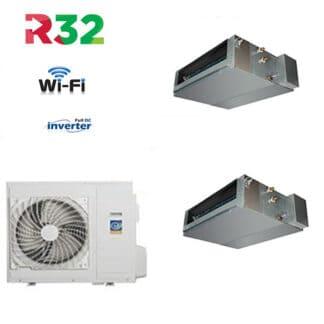 CLIMATIZZATORI DUAL SPLIT CANALIZZATI DC INVERTER GAS R-32 A++A+ LINEA 2021 WI-FI READY