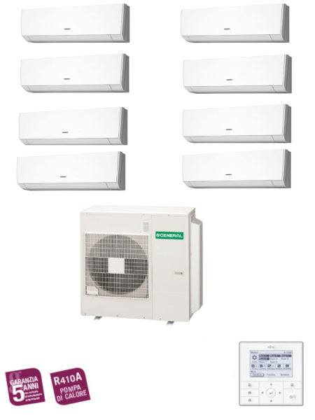 CLIMATIZZATORI MULTISPLIT DC INVERTER GENERAL FUJITSU MULTI 8 SPLIT