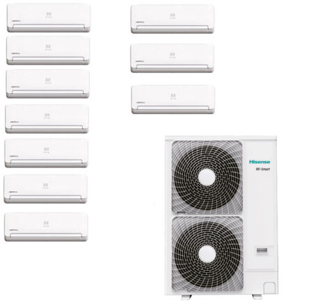 CLIMATIZZATORI MULTI 10 SPLIT HISENSE WINTAIR DC INVERTER