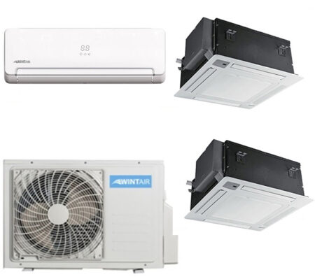 CLIMATIZZATORI TRIAL COMBINATI CASSETTA /SPLIT MURO HISENSE WINTAIR DC INVERTER A++A+ L
