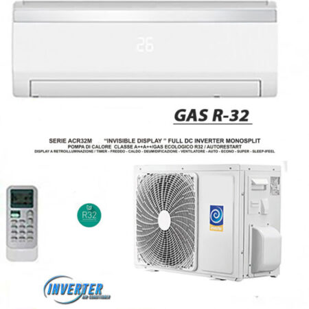 CLIMATIZZATORI MONO SPLIT SERIE ACR INVISIBLE DISPLAY FULL DC INVERTER A++A++ GAS R-32 LINEA 2021