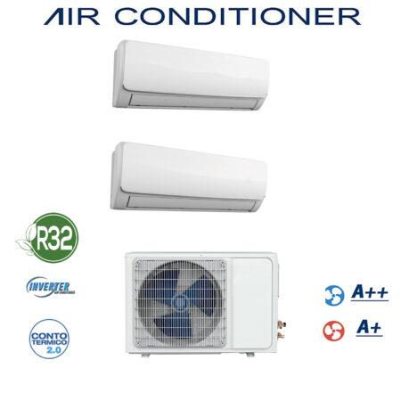 CLIMATIZZATORE DUAL SPLIT GAS R-32 DC INVERTER A++A+ PREDISPOSIZIONE WI-FI LINEA 2019