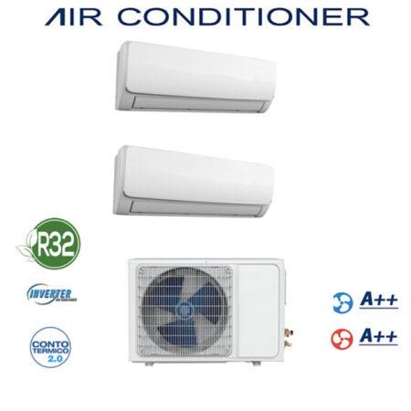 CLIMATIZZATORE DUAL SPLIT GAS R-32 DC INVERTER A++A++ PREDISPOSIZIONE WI-FI LINEA 2020