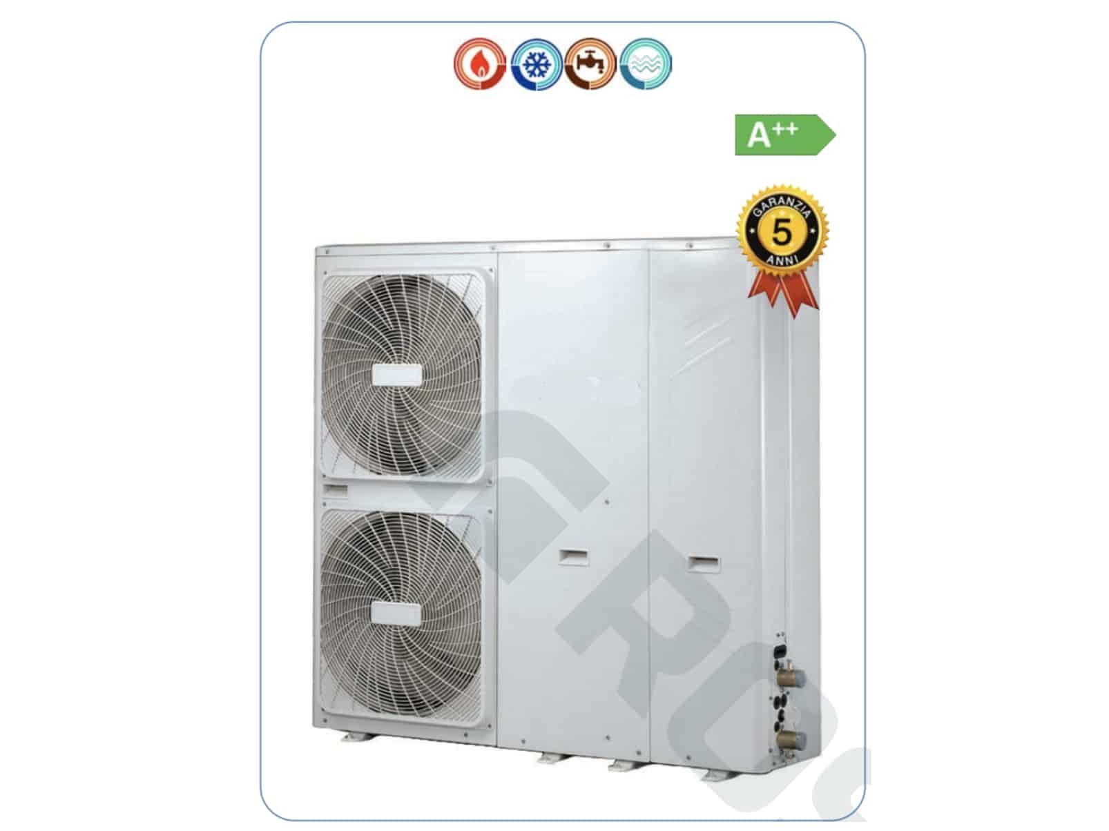 Riscaldamento A Pavimento E Raffreddamento pompa di calore aria acqua 12,7 kw inverter per riscaldamento e  raffreddamento e produzione acqua calda sanitaria trifase