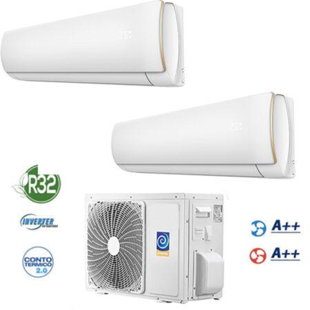 CLIMATIZZATORI DUAL SPLIT GAS R-32 FULL DC INVERTER A++A++ WI-FI INCLUSO CON SISTEMA SMART LIFE PER ANDROID O OS