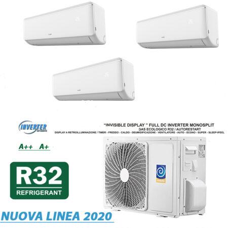 CLIMATIZZATORI TRIAL SPLIT A++A+ GAS R-32 FULL DC INVERTER LINEA 2020 WI-FI READY