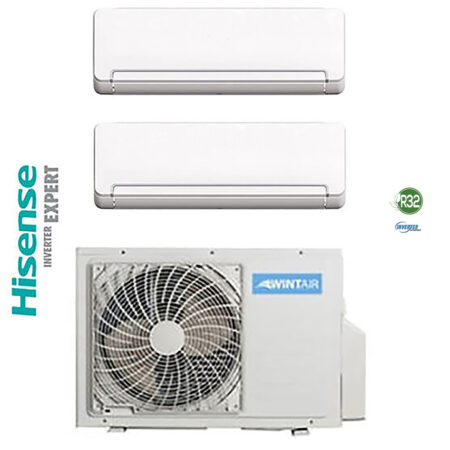 CLIMATIZZATORI DUAL SPLIT HISENSE WINTAIR GAS R32 A++A+ DC INVERTER LINEA 2021