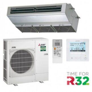 CLIMATIZZATORI SOFFITTO MITSUBISHI SERIE INDUSTRIALE POWER INVERTER GAS R-32 A+A