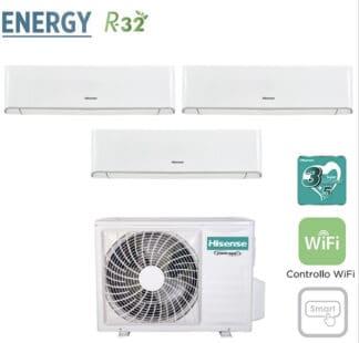 CLIMATIZZATORI TRIAL SPLIT HISENSE ENERGY R32 A++A+ DC INVERTER WI FI