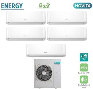 CLIMATIZZATORI PENTA SPLIT HISENSE ENERGY R32 DC INVERTER A++A+ WI-FI