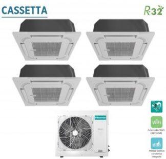 CLIMATIZZATORE CASSETTA QUADRI HISENSE R-32 DC INVERTER A++A+ WI-FI READY