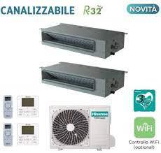CLIMATIZZATORI DUAL CANALIZZATI HISENSE DC INVERTER R-32 A++A+ WI FI READY